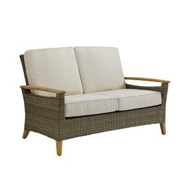 Pepper Marsh Loveseat with Cushions by Gloster