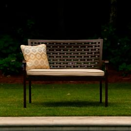 Oxford Bench with Cushion by Summer Classics