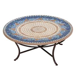 KNF Caribbean Sea Round Single-Tiered Coffee Table