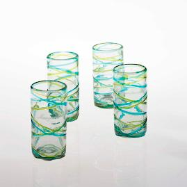 Margaritaville Swirl Highball Glasses, Set of Four