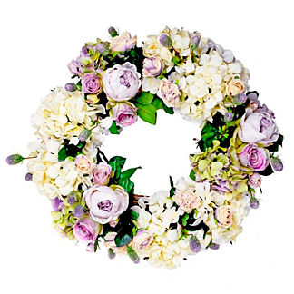 Lavender and Cream Wreath