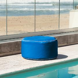 Indoor/Outdoor Round Bean Bag Ottoman