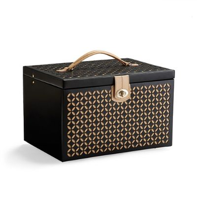 WOLF Chloe Large Laser Cut Leather Jewelry Box Frontgate
