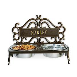 Personalized Decorative Baroque Pet Feeder Frontgate