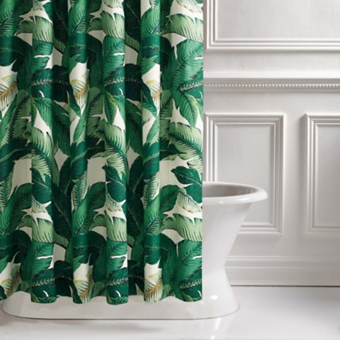 Beau Lanai Palm Shower Curtain