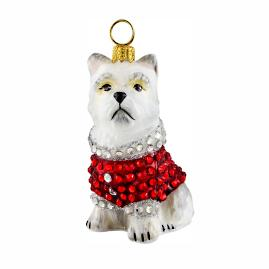 Diva Dogs Westie in Full Crystal Coat