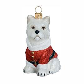 Diva Dog Westie Santa Paws Ornament