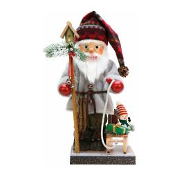 Christian Ulbricht Santa with Sled, Snowman & Bird