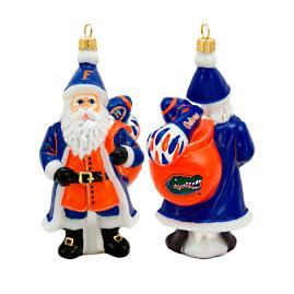 Collegiate Santa Ornament