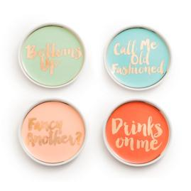Chez Elle Coasters, Set of Four