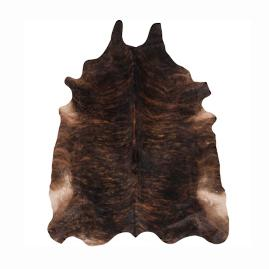 Prairie Hair on Hide Area Rug in Black/Brown