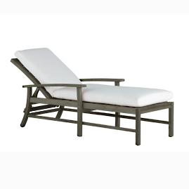 Charleston Teak Chaise Lounge with Cushion