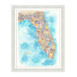 Florida Watercolor Multi Colored
