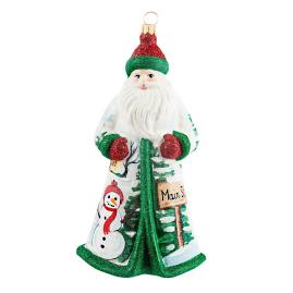Main Street Christmas USA Santa Ornament