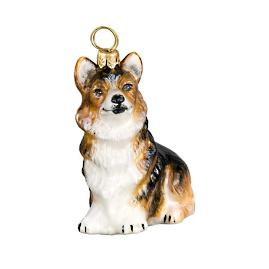 Tri-color Sitting Pembroke Welsh Corgi Ornament