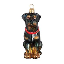 Sitting Rottweiler Ornament