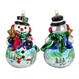 Carpathian Mountain Snowman Ornament