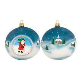 Father Frost Reflector Ball Ornament