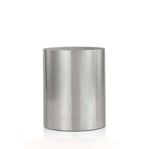 Labrazel Silvio Polished Nickel Wastebasket