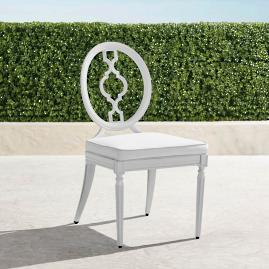 Avery Dining Side Chairs with Cushions in White