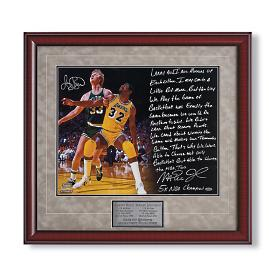Magic Johnson/Larry Bird Signed Photo Story