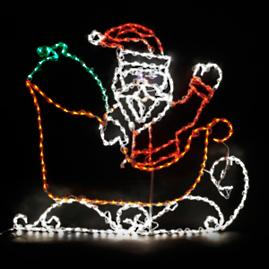 LED Santa in Sleigh