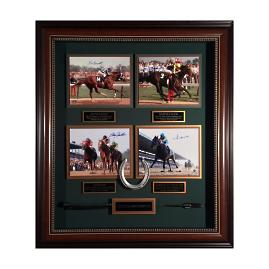 Triple Crown Champions Autographed Display