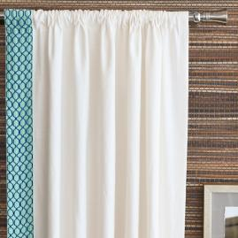 Malia White Curtain Panel