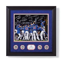Chicago Cubs 2016 World Series Team Signed Photo