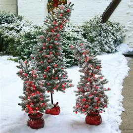 Pre-lit Grinch Stake Tree with French Pot