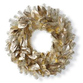 Platinum Magnolia Cordless Wreath