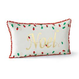 Noel Lumbar Holiday Pillow