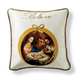 Believe Holiday Decorative Pillow