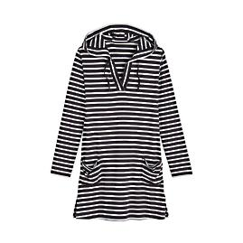 Striped Beach Cover-Up Dress