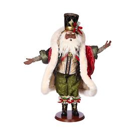 Mark Roberts African-American Santa On the Town Figure