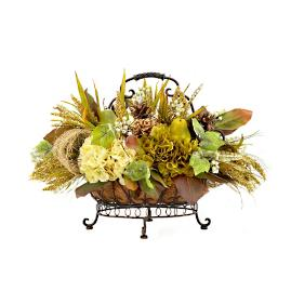 Jora Arrangement in Metal Basket