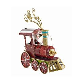 Katherine's Collection Santa's Tin Christmas Train Engine