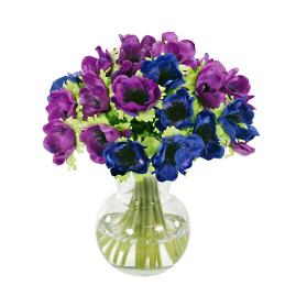 Anemone Bouquet in Vase