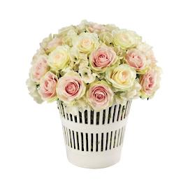French Rose Bouquet in Pot
