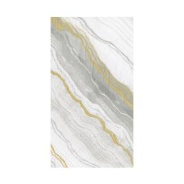 Caspari Grey Marble Guest Towels, Set of 30