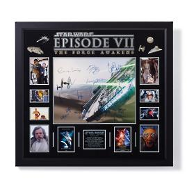Autographed Star Wars: The Force Awakens Millennium Falcon