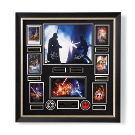 "Autographed Star Wars ""The Duel"" Collage"