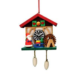 Santa Cuckoo Clock Ornament