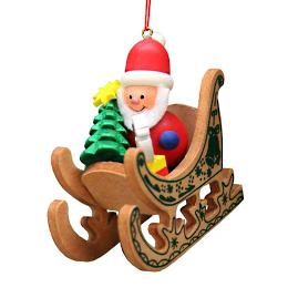 Santa in His Sleigh Ornament