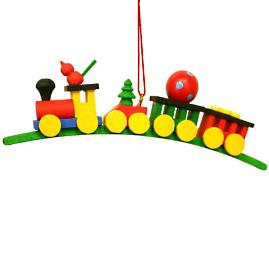 Christmas Train on Snowy Arch Ornament