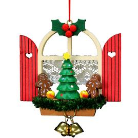 Christmas Window Scene Ornament
