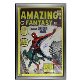 Stan Lee Signed Spider-Man Comic Book Poster