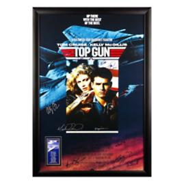 Top Gun Signed Movie Poster, 11 Autographs