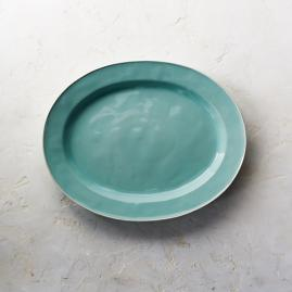 Costa Nova Astoria Oval Serving Platter in Mint