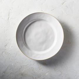 Costa Nova Astoria Dinner Plates in White Finish,